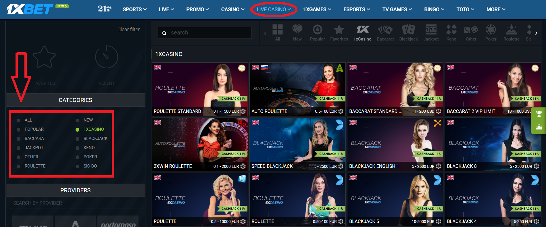 1xBet Live Betting Guide